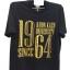 เสื้อยืดสีดำ-ทอง1964 Size 2XL thumbnail 1