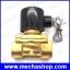 โซลินอยด์วาล์วปิดเปิดน้ำ 24VDC 3/4นิ้ว (DN20) เกลียวนิ้ว BSP Water Air Oil Brass Normal Close Electric Solenoid Valve thumbnail 1