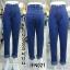 กางเกงยีนส์ทรงบอยเอวสูง สีอ่อนกลาง ผ้าไม่ยืด ทรงสวย พับขาเก๋ๆ มี S M L XL 34 36 38 40 42 44