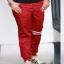 กางเกง jogger JG T605 แดงเลือดแถบ