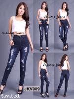 กางเกงยีนส์ทรงเดฟ สีกรม แต่งขาด ถ่ายจากงานจริง ผ้ายีนส์ยืดเนื้อดี มี SIZE S,M,XL