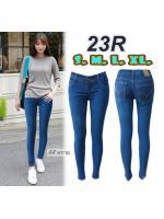 กางเกงยีนส์ขาเดฟแฟชั่น เอวต่ำ ยีนส์ยืด สีฟ้าสกาย ผ้ายืดได้อีกประมาน 1นิ้ว มี SIZE S,M,L,XL