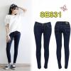 กางเกงยีนส์แฟชั่นเอวต่ำขาเดฟ ซิปหน้า ยีนส์ยืดคุณภาพดี สีกรมฟอก มี SIZE S,M,L,XL