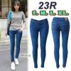 กางเกงยีนส์ขาเดฟแฟชั่น เอวต่ำ ยีนส์ยืด สีฟ้าสกาย ผ้ายืดได้อีกประมาน 1นิ้ว มี SIZE S,L,XL