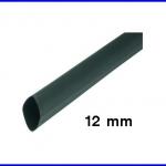 ท่อหด ท่อหุ้มสายไฟคุณภาพ 12มม. KUHS 225 สีดำ ความยาว1เมตร