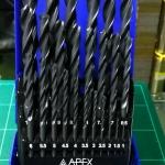 ดอกสว่านเจาะเหล็ก APEX 25 ตัวชุด 1.0-13 มม.