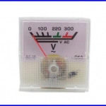 โวลต์มิเตอร์ มิเตอร์วัดโวลต์ไฟฟ้า AC 0-300V Voltage Analog pointer Voltmeter Panel Meter 91L16 Gauge Voltmeter