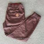 กางเกง JOGGER พรีเมี่ยม ริมแดง สีน้ำตาล BIG 624