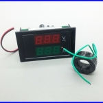 เครื่องมือวัดไฟฟ้า แอมป์มิเตอร์ ดิจิตอลแอมป์มิเตอร์ AC 80~300V 100A Ammeter Voltmeter Digital LED Panel