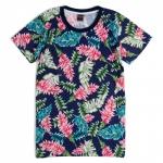 เสื้อยืดคอกลม เสื้อลายดอก F027