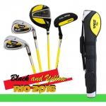 อายุ 8-12 ขวบ ชุดไม้กอล์ฟเด็ก ผู้ชาย PGM USA Kids Golf Set Junior boy Black /Yellow (Slim)