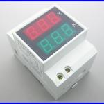 มิเตอร์วัดแรงดันและกรแสไฟฟ้า Model D52-2042 DIN-RAIL Slide Way Digital LED Voltmeter Ammeter AC80-300V AC220V AC0.2-99.9A(ไม่ต้องต่อ R-Shut)