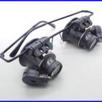 กล้องส่องขยาย กล้องขยายชิ้นงาน 2เลนส์ 20X Magnifier Magnifying Eye Glasses Loupe Lens Jeweler Watch Repair LED Light
