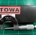 ไมโครวัดนอก ยี่ห้อ TOWA ขนาด 0-25 mm.(0.01mm.)