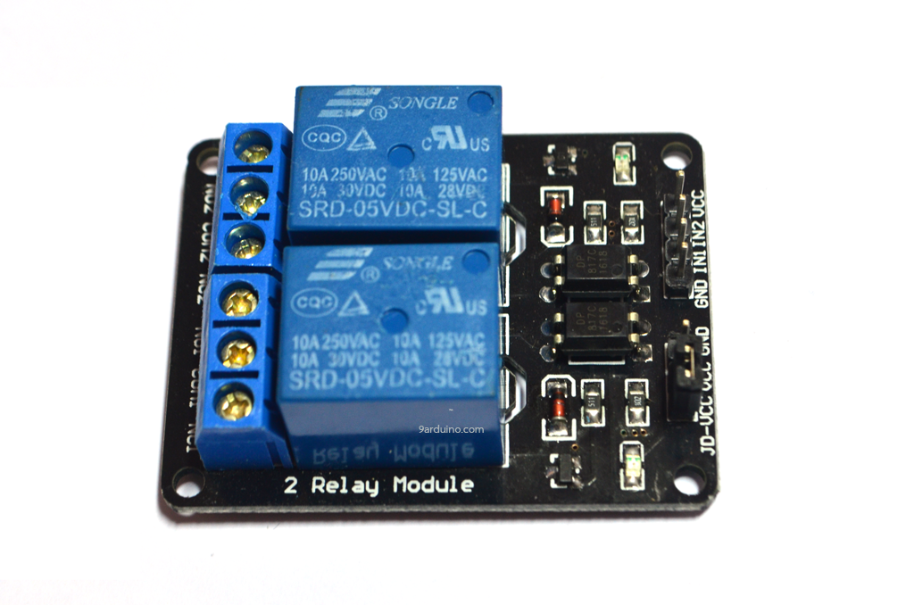 Module รีเลย์ relay 2 Chanel