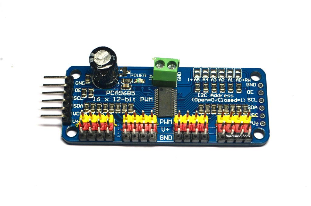 PCA9685 16-Channel 12-bit PWM Servo shield I2C interface