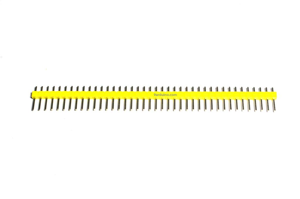 ก้างปลา 1x40 Pin Male Pin Header Connector (สีเหลือง)