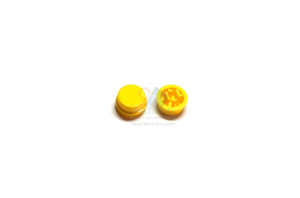ฝาปุ่มกดสวิตซ์ สำหรับสวิตซ์ 12x12mm สีเหลือง