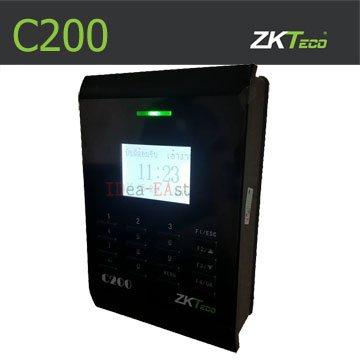 คีย์การ์ด เครื่องทาบบัตรเปิดประตู ZK C200 พร้อมชุดล๊อคแม่เหล็กไฟฟ้า