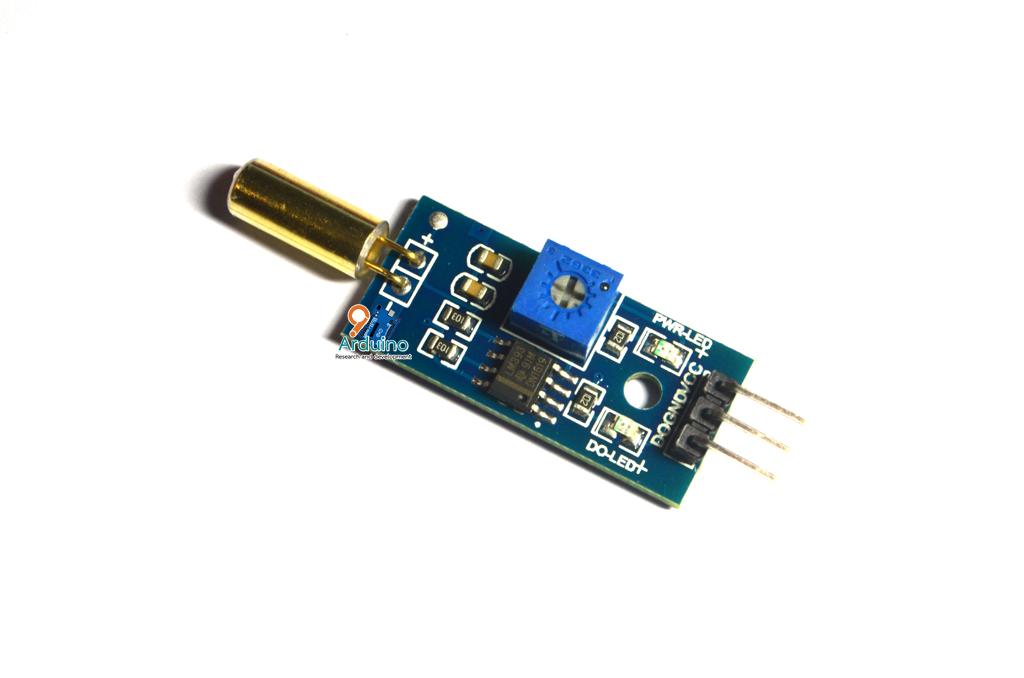 SW-520D Metal Ball Tilt Switch วัดการเอียง Module แบบ Digital II