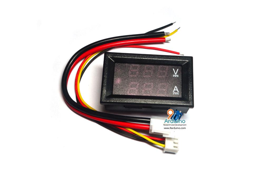 LED Seven Segment Voltage And Current Meter Digital DC0-100V 10A