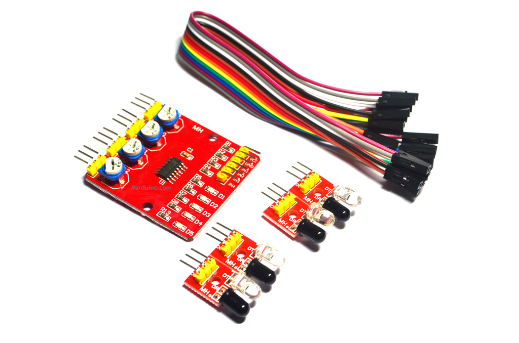 XD 201 red plate 4-way Infrared Line Tracking