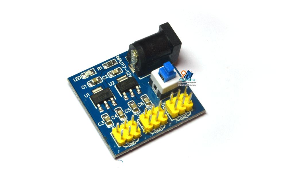 DC-DC Power Module Multi Output Voltage Conversion โมดูลแปลงไฟ 6.5-12V เป็น 5V และ 3.3V สำหรับทดลอง