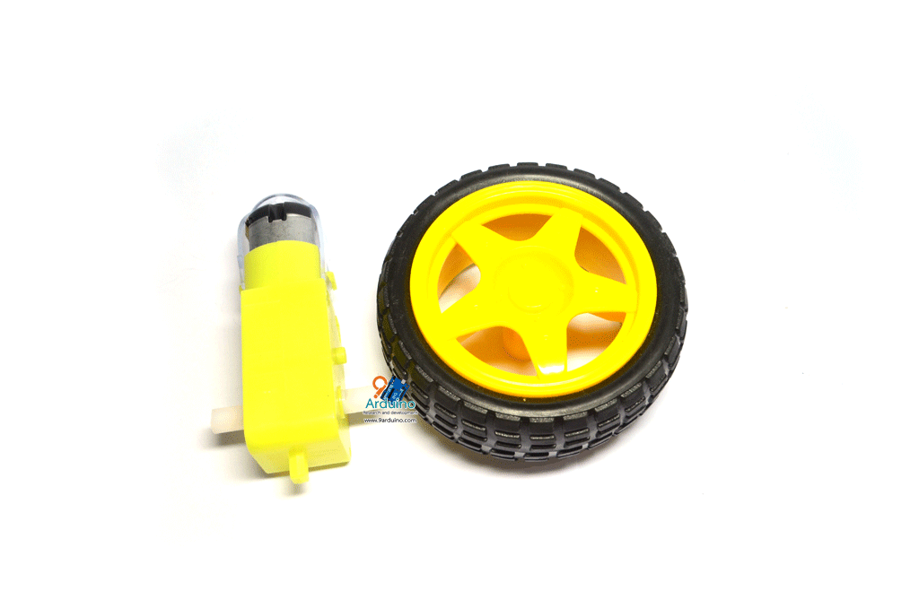 Wheel robot car + Motor Gear Box