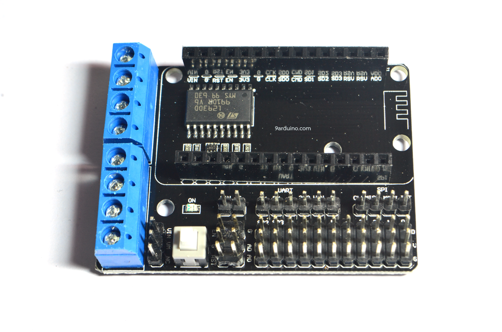 Motor Driver (L293DD) Shield for NodeMCU V2 บอร์ดขับมอเตอร์สำหรับ ESP8266 NodeMCU V2