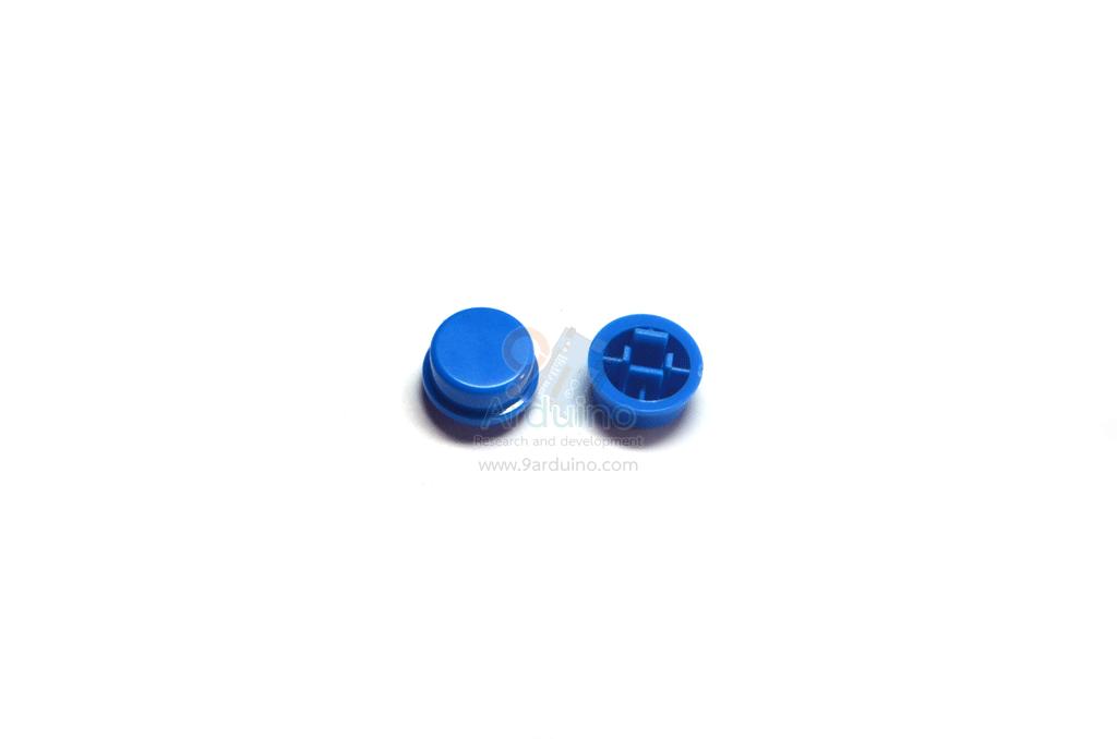 ฝาปุ่มกดสวิตซ์ สำหรับสวิตซ์ 12x12mm สีน้ำเงิน