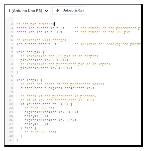 จำลองการเขียน Code circuits.io