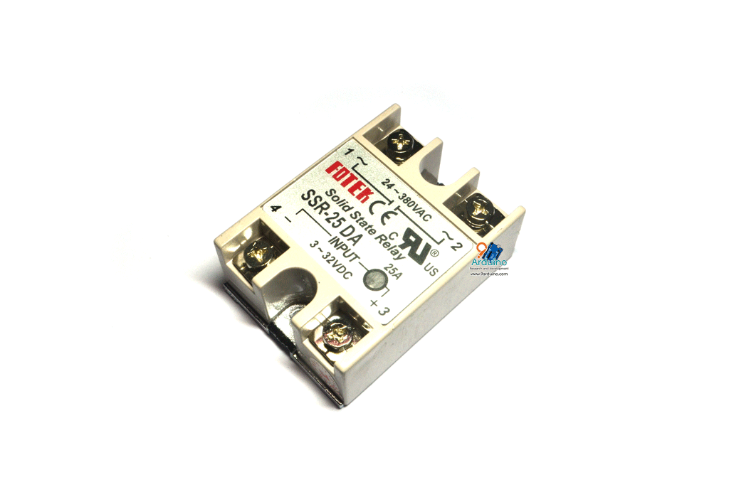 Solid State Relay 25A SSR-25DA Input 3-32VDC Output 24-380VAC