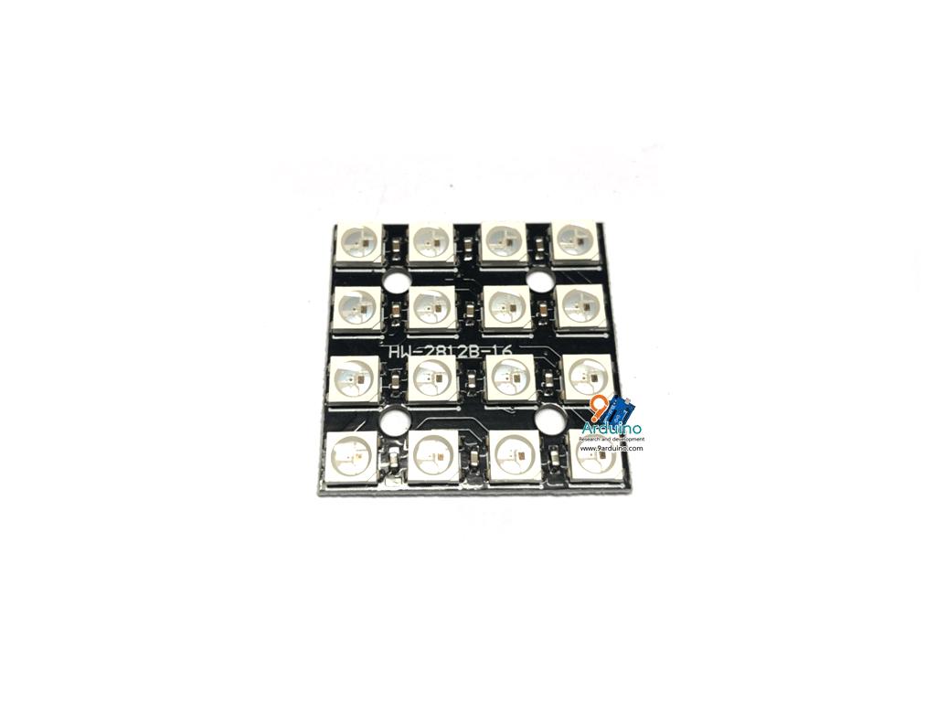 NeoPixel Matrix WS2812B 4*4 RGB LED 16 หลอด
