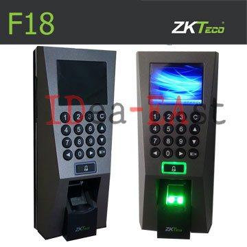 เครื่องสแกนลายนิ้วมือเปิดประตู ZKT F18 ราคาถูกพร้อมชุดแม่เหล็กไฟฟ้าควบคุมประตู