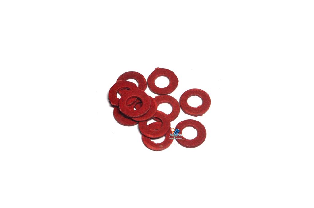 แหวน M3 ฉนวนกระดาษสีแดง รองน๊อตยึดเมนบอร์ด M3 (กันช๊อต) (10 ตัว)