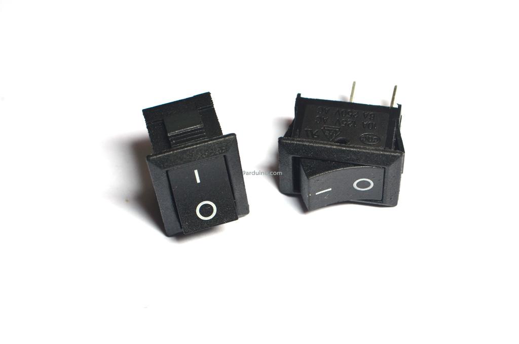 สวิตช์ ไฟเปิด/ปิด (แบบ 1 ทาง) สามารถทน แรงดัน 240VAC และกระแส 6A
