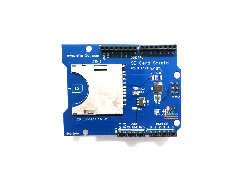 SD Card Shield Expansion Board For Arduino