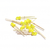 LED 3mm (สีเหลือง) จำนวน 10 หลอด