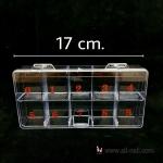 กล่องเก็บอุปกรณ์ 10ช่อง (สีใส)