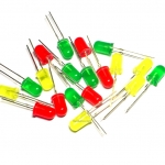 LED 5mm (แดง.เหลือง,เขียว) อย่างละ 10 หลอด