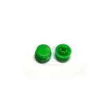 ฝาปุ่มกดสวิตซ์ สำหรับสวิตซ์ 12x12mm สีเขียว