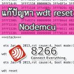 แก้ปัญหา wdt reset ของ Nodemcu esp8266 เขียน Code พัฒนาด้วย Arduino ide