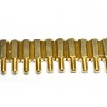 น๊อตทองเหลือง M3x10+6mm (10 ชิ้น)