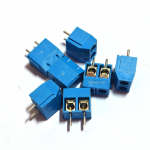 Terminal Connector Blocks 2Pins Pitch 5.0mm (สีฟ้า)