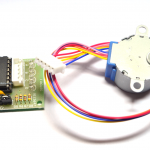 Stepper Motor 4-phase 5V + Driver Board ULN2003