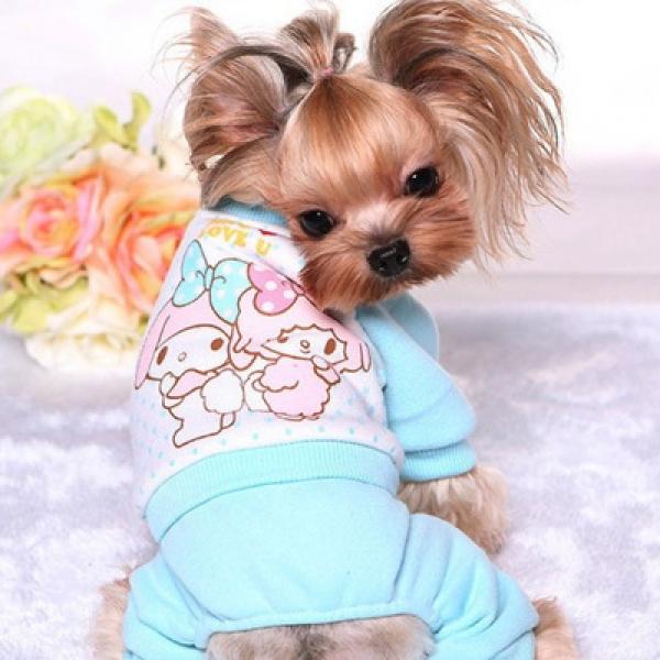 รูปภาพสินค้า ชุดนอนสุนัข เสื้อนอนน้องหมาน้องแมว ลาย มายเมโลดี้ ผ้าสำลี