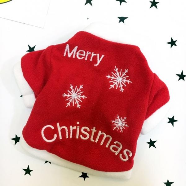 รูปภาพสินค้า เสื้อผ้าหมาแมวนำเข้า เทศกาลคริสมาส ลาย merry christmas