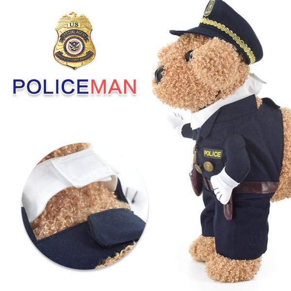 รูปภาพสินค้า ชุดคอสตูมสุนัข ชุดแมว เสื้อผ้าแฟนซีน้องหมา เซท ตำรวจ