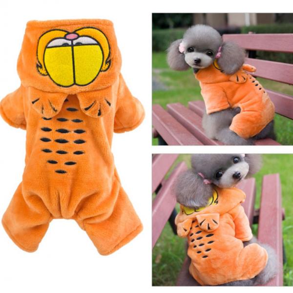 รูปภาพสินค้า เสื้อผ้าสุนัข ชุดสี่ขาน้องหมา เสื้อแมว ลาย การ์ฟิว (S-XXL)