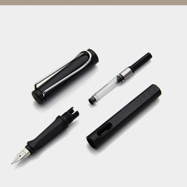 รูปภาพสินค้า ปากกาหมึกซึม Hero Summer Color 359/359A ขนาด F